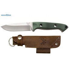 Faca Benchmade Bushcrafter Green Leather