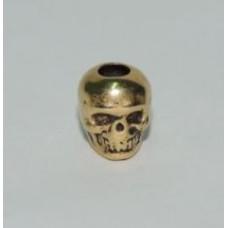 Skull Bead Gold