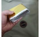 Manta Térmica Pro Dourada Prateada 210x160 cm