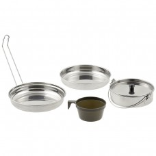 Kit Cozinha Portátil Inox 5 Pcs
