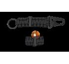 Porta-chaves Sobrevivência com Firesteel Preto