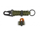 Porta-chaves Sobrevivência com Firesteel Verde