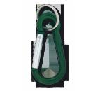 Mosquetão Aluminio Verde 5 cm