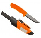 Faca Mora Bushcraft Survival Orange (Inox)