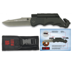 Navalha RUI Pro com Lanterna e Fire Steel Preta