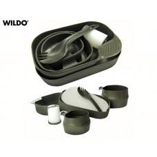 Kit Refeição Wildo Camp-a-Box Preto
